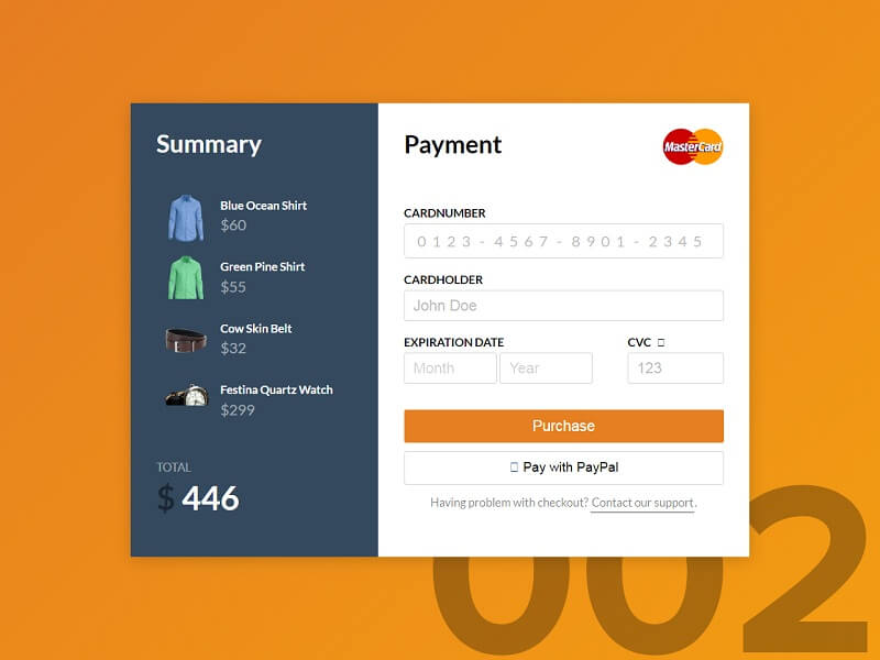 Credit Card Checkout Free CSS Checkout Forms