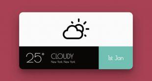 Best CSS Weather Widgets
