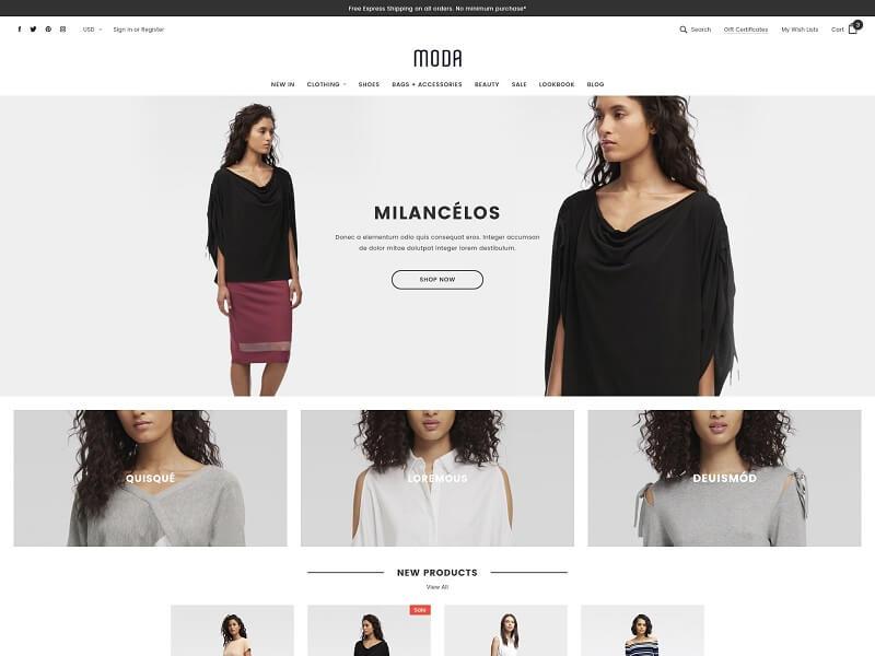 Free BigCommerce Themes: #MODA