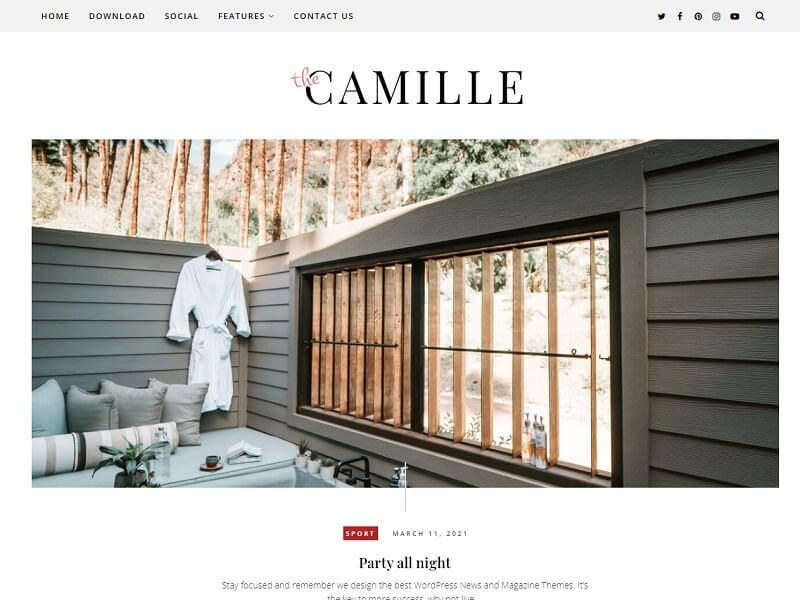 Best Free Responsive Blogger Templates: #Camille