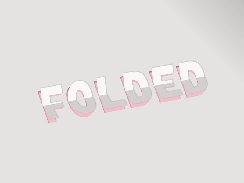 3D Paper Fold Text Effect
