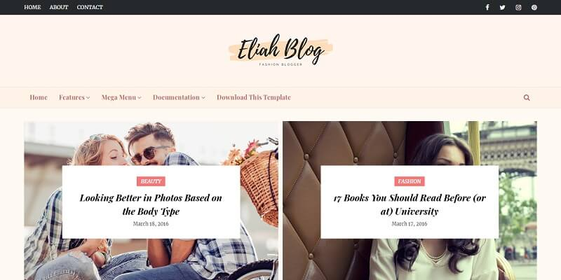 For blogger free template Responsive Free