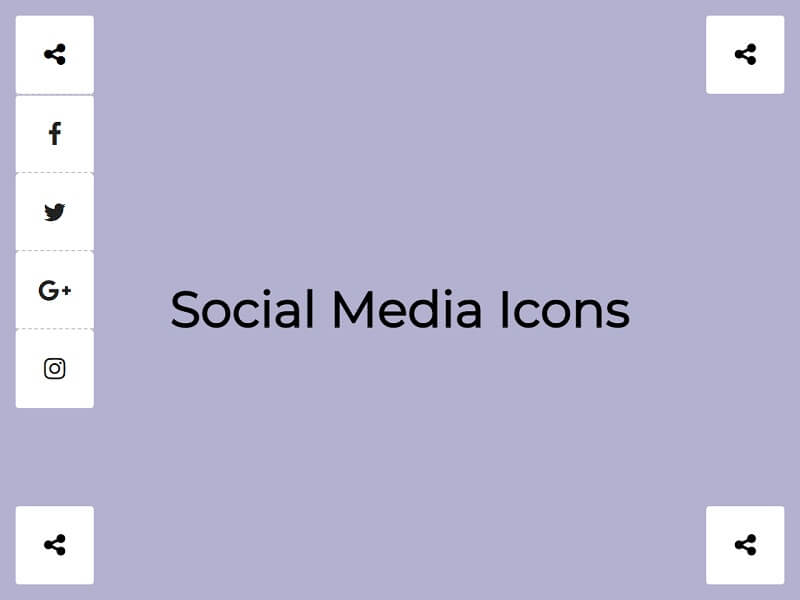 Social Media Icons Share