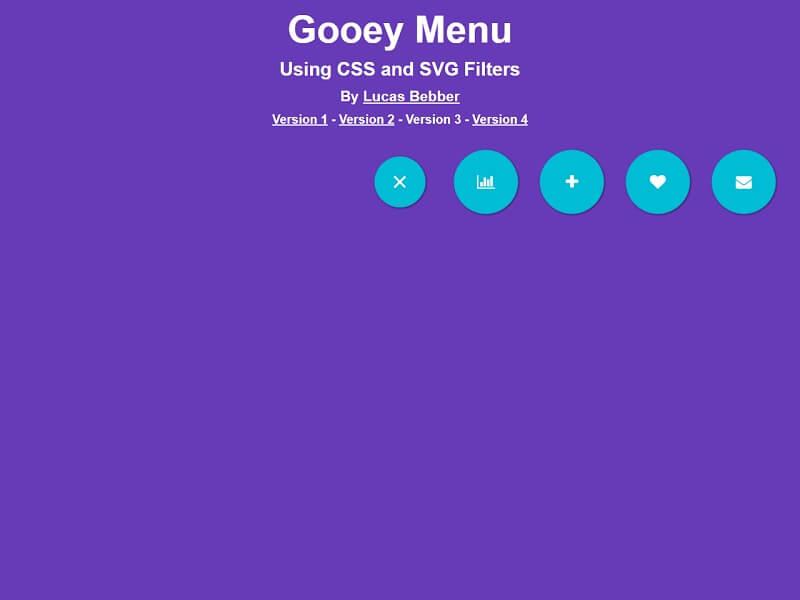 CSS Gooey Menu Version 3