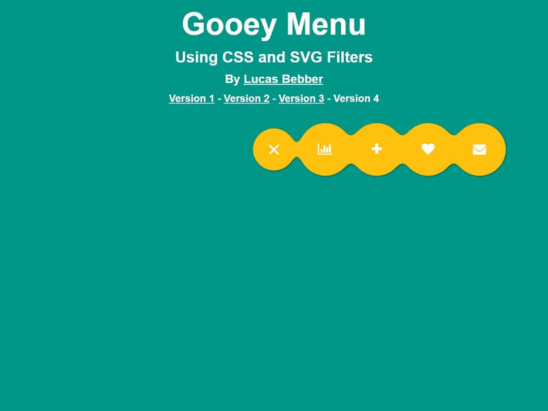 CSS Gooey Menu Version 4
