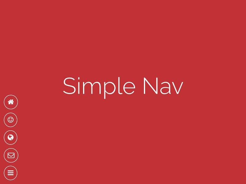 Simple Nav CSS Toggle Menus