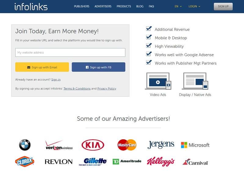 Google AdSense Alternatives: #InfoLinks